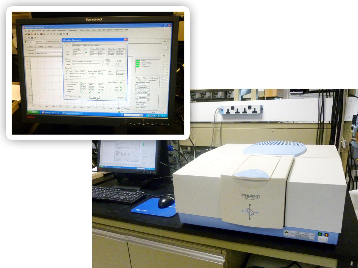 Shimadzu Prestige 21 Ftir Spectrophotometer